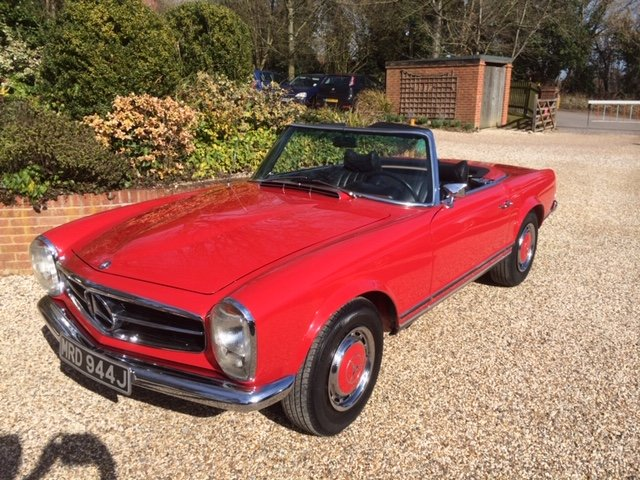 1971 MERCEDES BENZ 280SL PAGODA W113 MANUAL For Sale (picture 1 of 6)