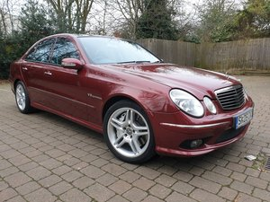 Mercedes E55 AMG Rare colour Titanite Red