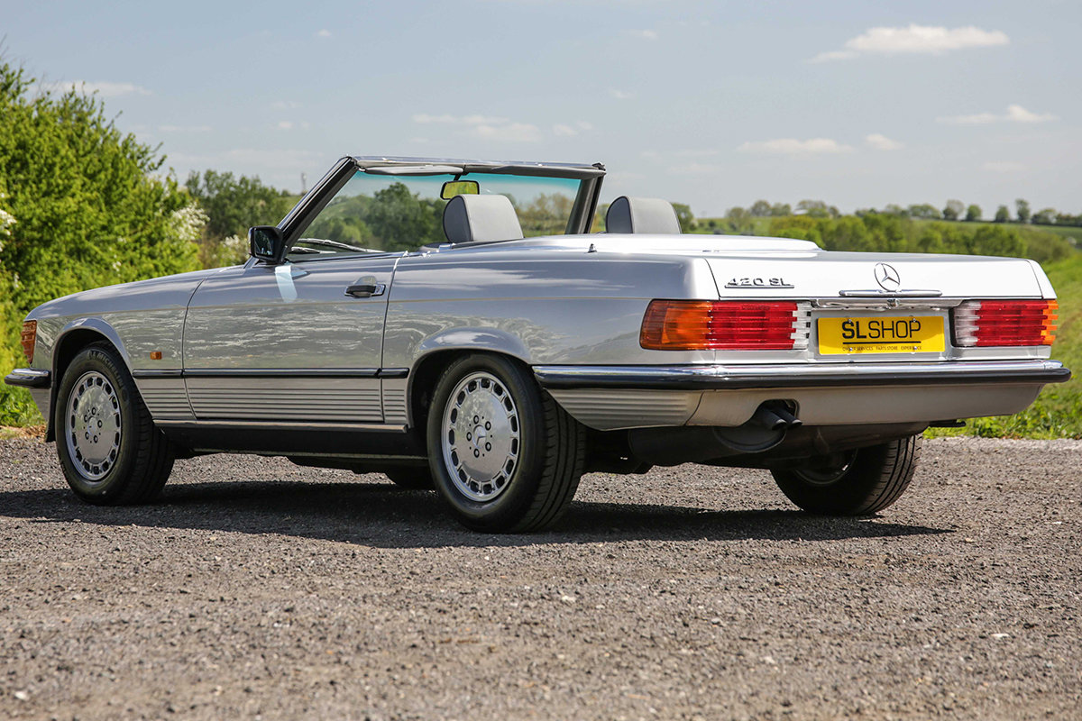 1986 Mercedes-Benz 420SL V8 (R107) #2045 55k miles Rear Seating For Sale (picture 3 of 6)