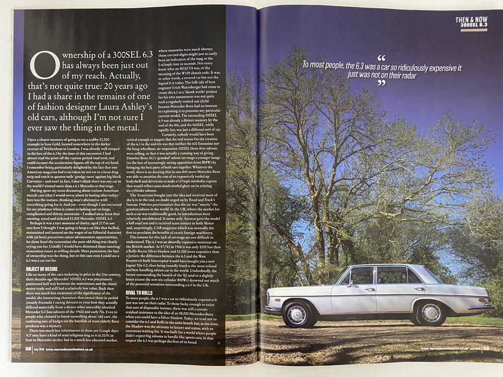 1971 Mercedes Benz 300SEL 6.3 - immaculate condition For Sale (picture 16 of 24)