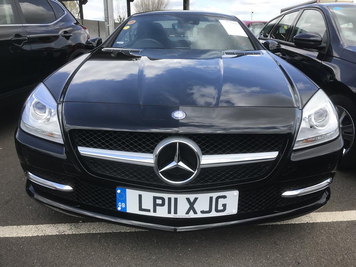 2011 Mercedes SLK black convertible For Sale (picture 1 of 6)