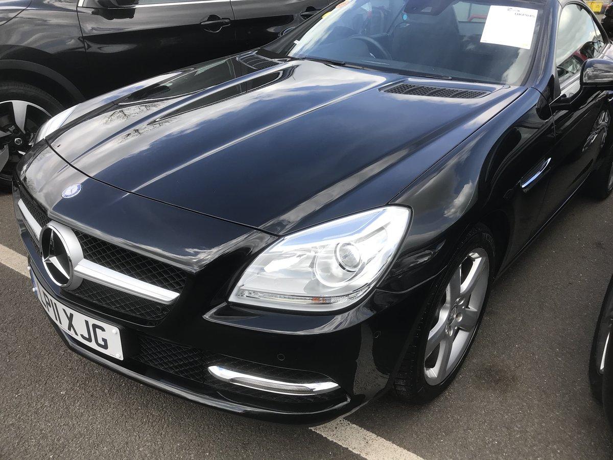 2011 Mercedes SLK black convertible For Sale (picture 2 of 6)