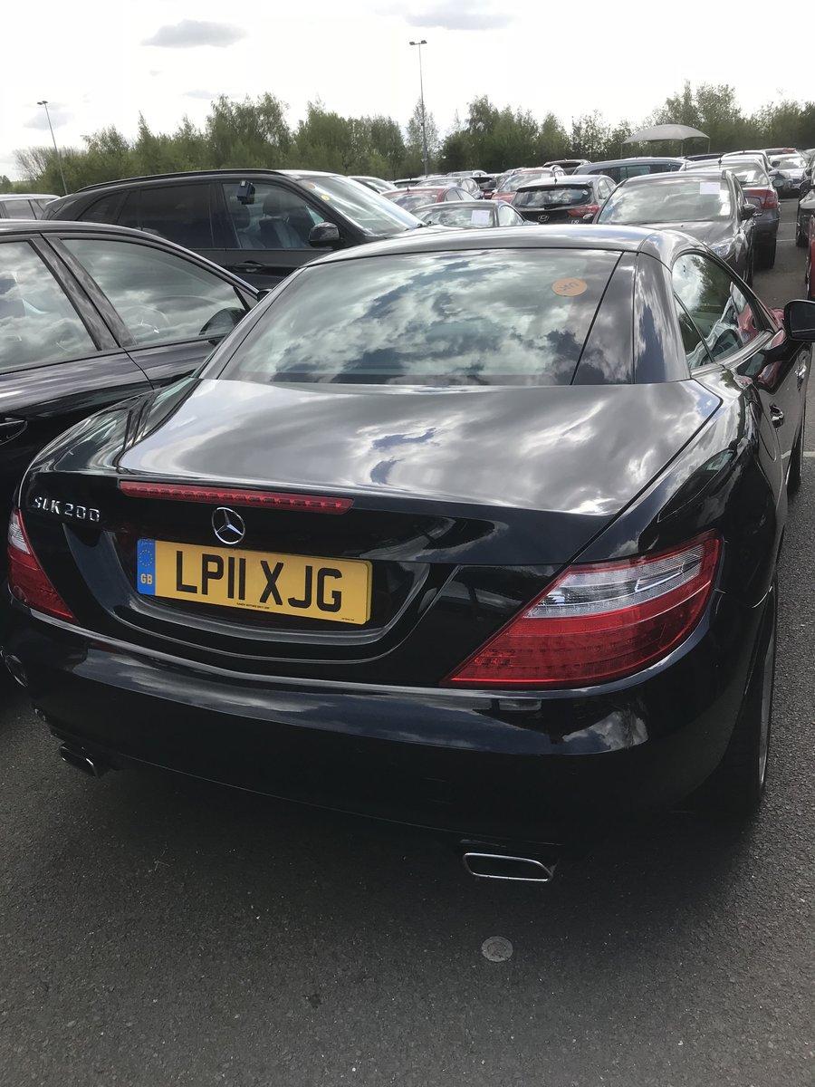 2011 Mercedes SLK black convertible For Sale (picture 4 of 6)