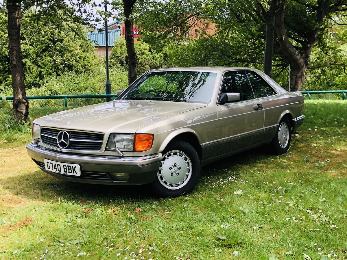 1989 1990 MERCEDES-BENZ C126 560 SEC COUPE - VERY LOW MILEAGE SOLD (picture 1 of 6)