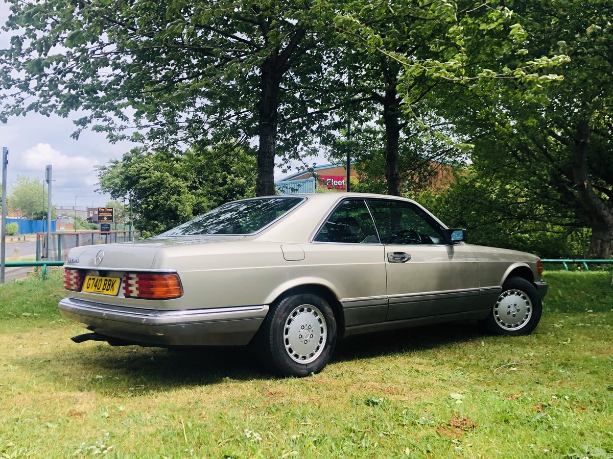 1989 1990 MERCEDES-BENZ C126 560 SEC COUPE - VERY LOW MILEAGE SOLD (picture 2 of 6)