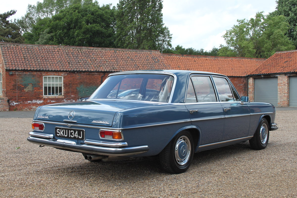1971 Mercedes 280SE 69000 miles 1 owner FMBSH For Sale (picture 4 of 6)