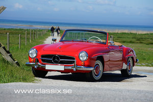 1960 Stunning red Mercedes 190 SL For Sale