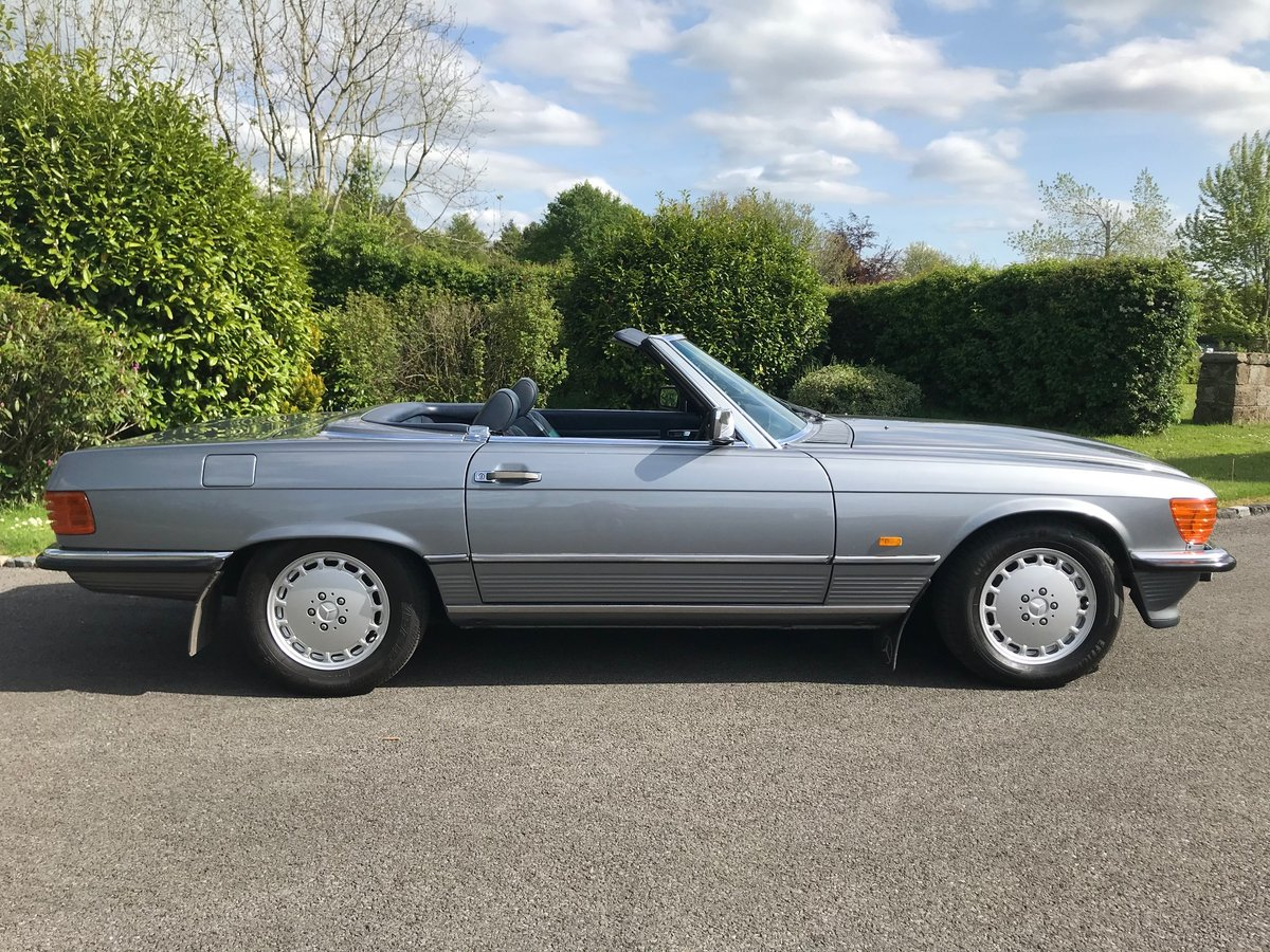 1988 Mercedes 300 SL - R107 - Pearl Grey SOLD (picture 4 of 6)