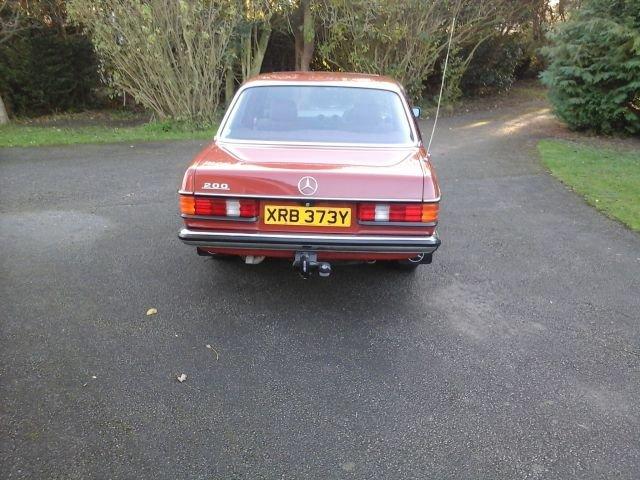 1983 Y MERCEDES 200, 4 DOOR MANUAL, For Sale (picture 2 of 4)