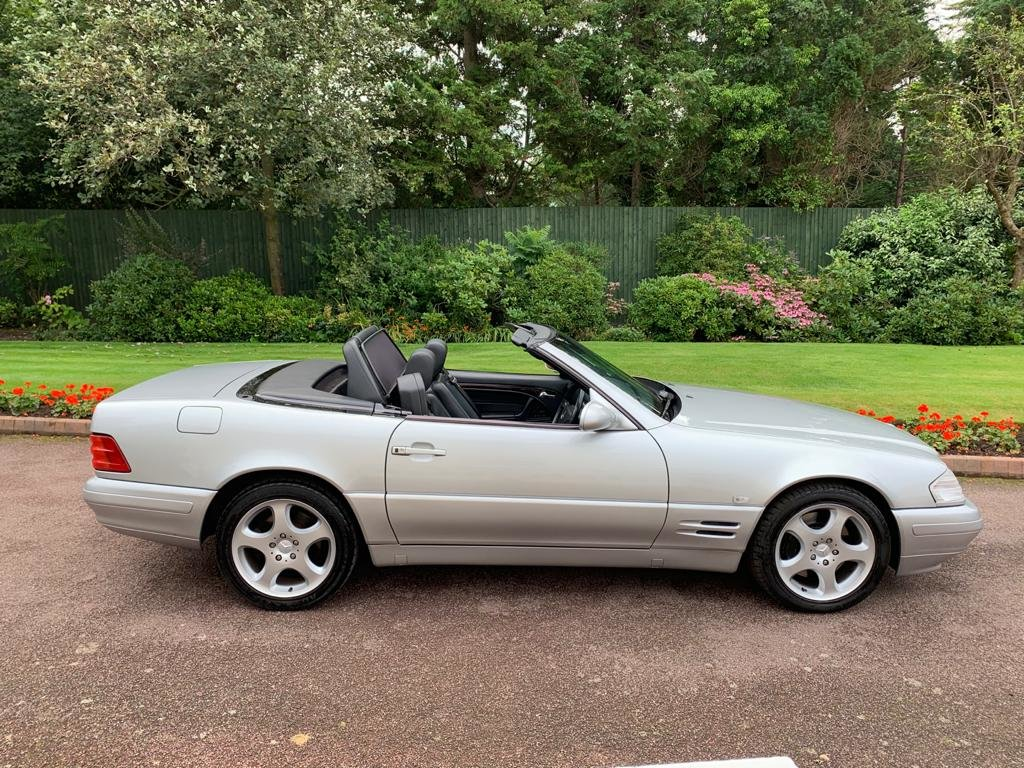 Mercedes 280SL 2000 W Reg Silver Black Leather 43k For Sale (picture 1 of 6)