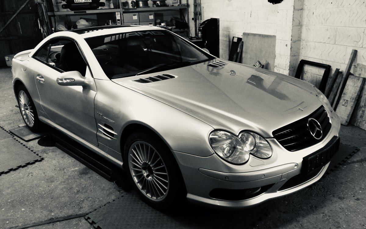 2002 Mercedes Benz SL55 AMG Supercharged V8 Project For Sale (picture 1 of 6)