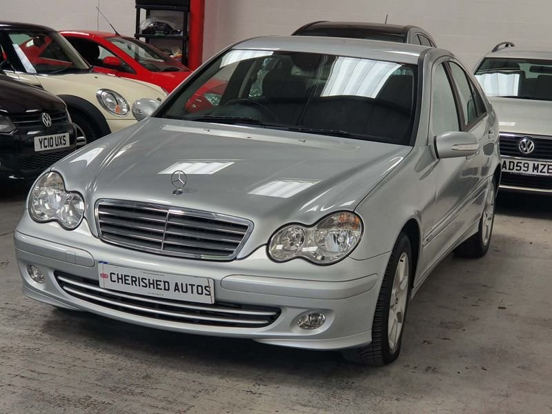 2006 SILVER MERCEDES BENZ-C CLASS 1.8 CLASSIC*GEN 40,000 MILES For Sale (picture 1 of 6)