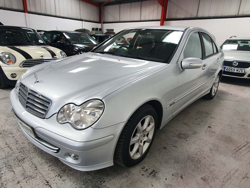 2006 SILVER MERCEDES BENZ-C CLASS 1.8 CLASSIC*GEN 40,000 MILES For Sale (picture 2 of 6)