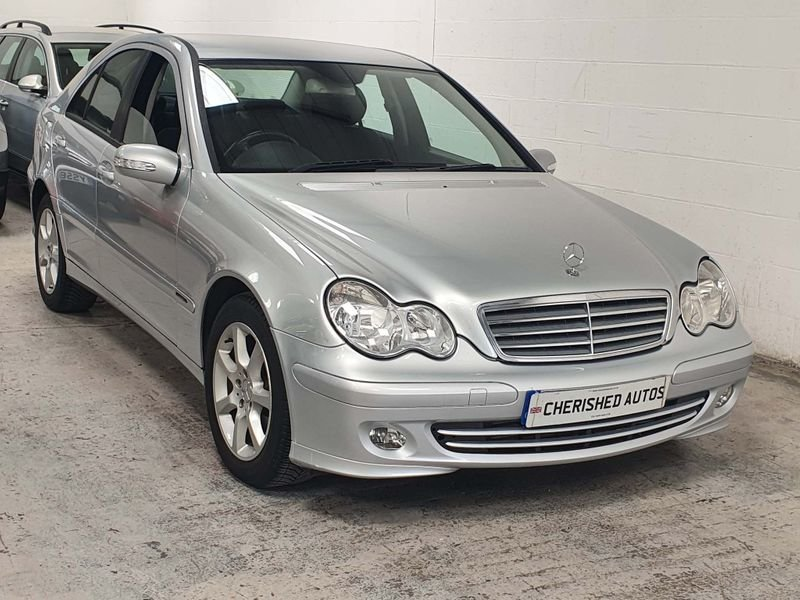 2006 SILVER MERCEDES BENZ-C CLASS 1.8 CLASSIC*GEN 40,000 MILES For Sale (picture 3 of 6)