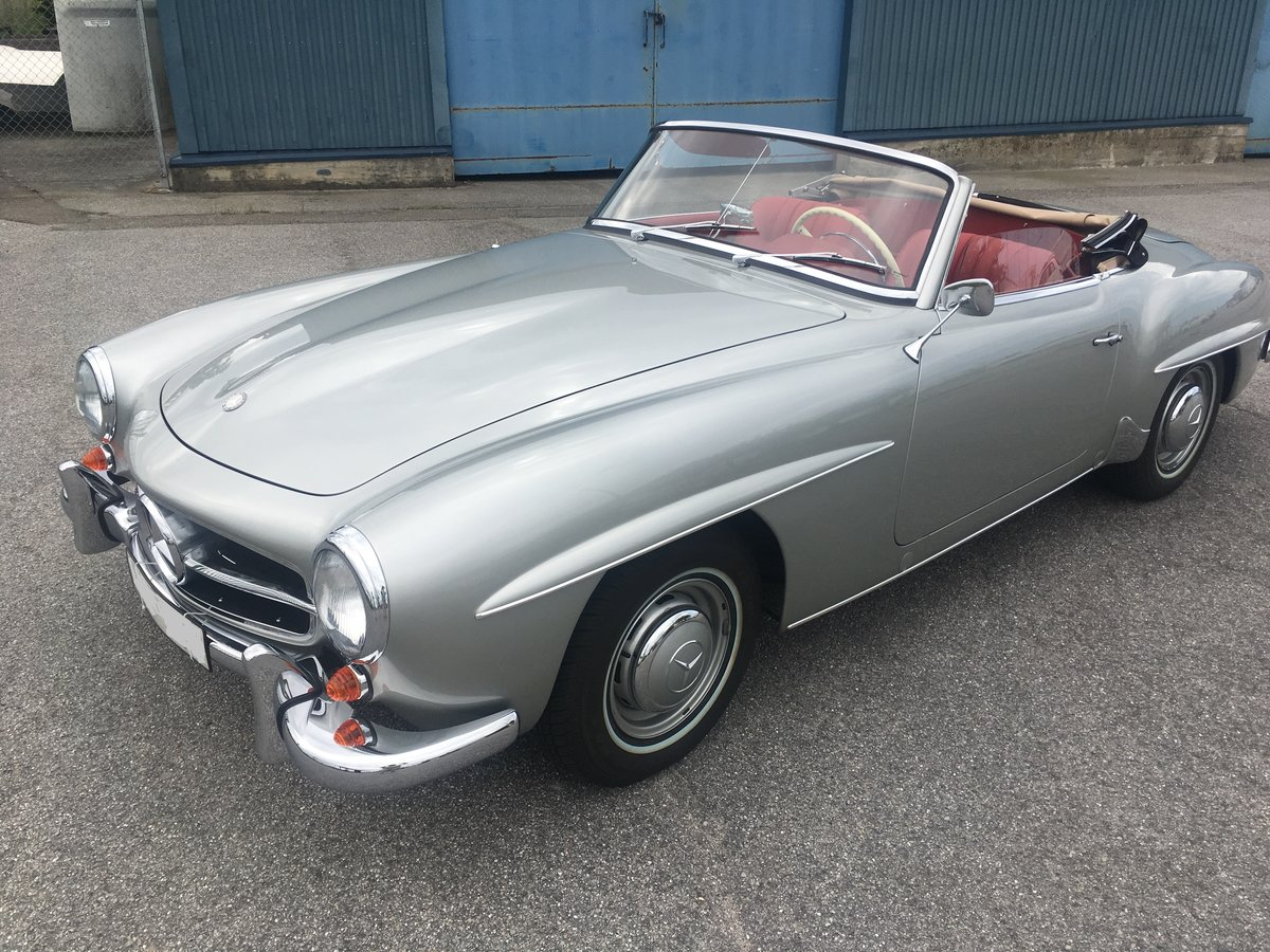 1957 Mercedes 190SL in NEW condition- Unique! For Sale (picture 1 of 6)