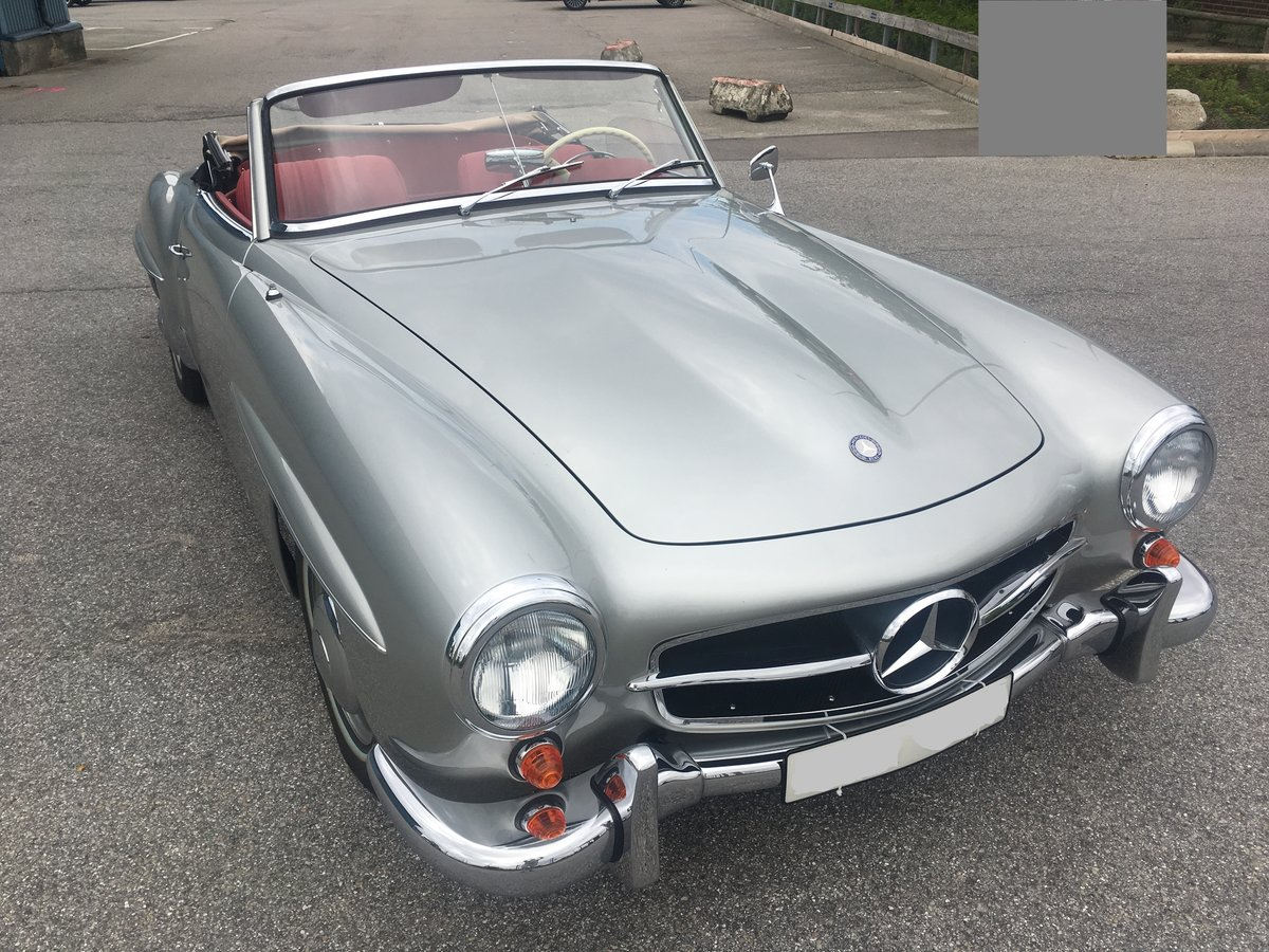 1957 Mercedes 190SL in NEW condition- Unique! For Sale (picture 2 of 6)