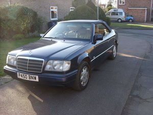 A beautiful 4 seat mercedes convertible.