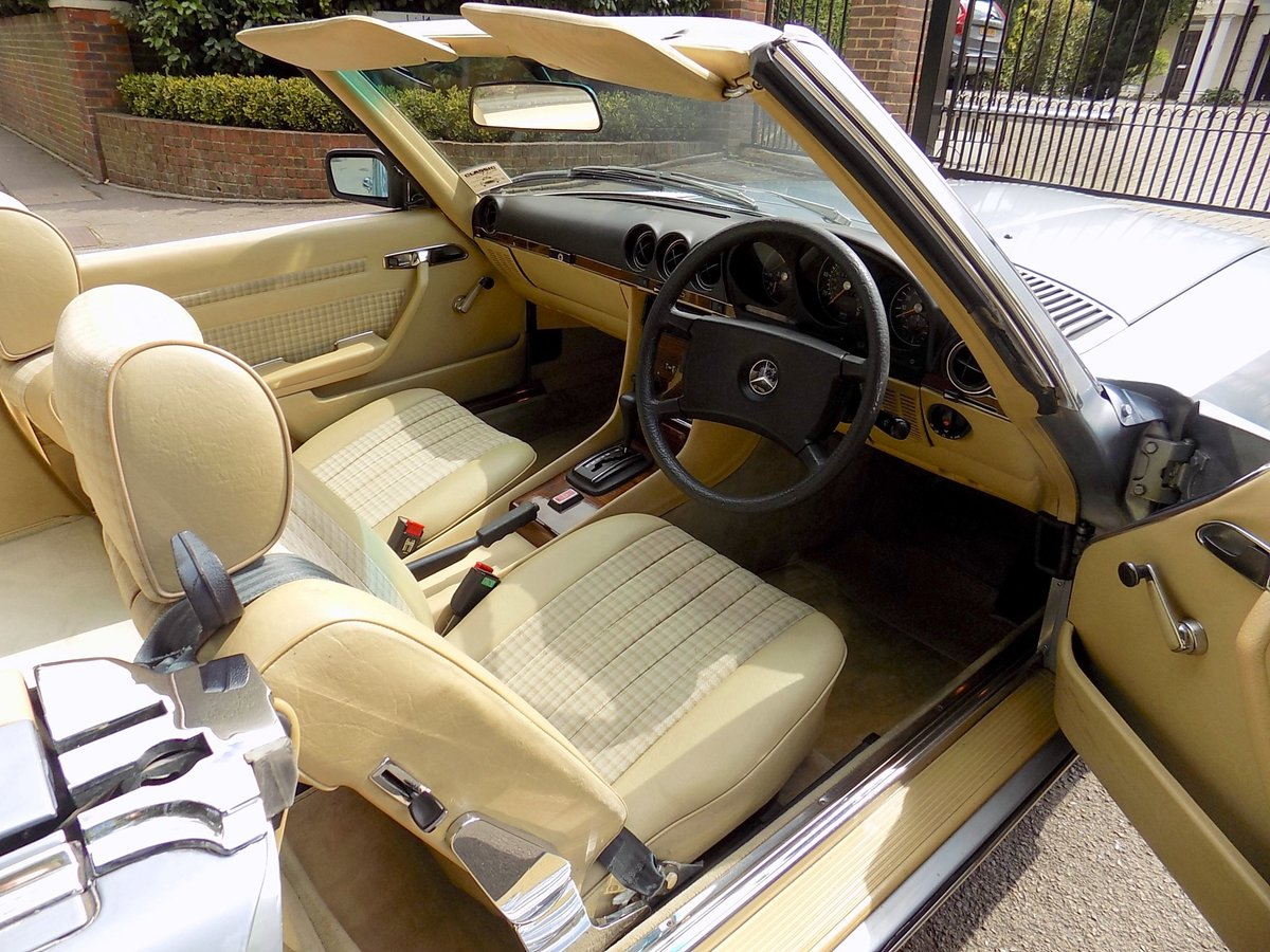 1979 Mercedes 350SL Sports Convertible - Only 67K miles from new! For Sale (picture 3 of 6)