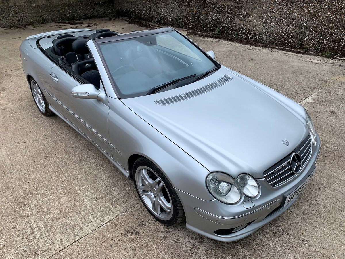 2003 Mercedes CLK55 AMG Convertible+lovely condition For Sale (picture 1 of 6)
