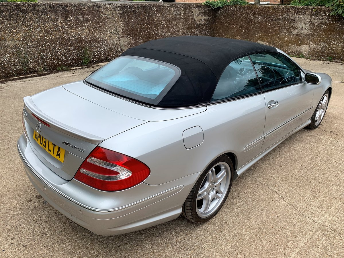 2003 Mercedes CLK55 AMG Convertible+lovely condition For Sale (picture 2 of 6)