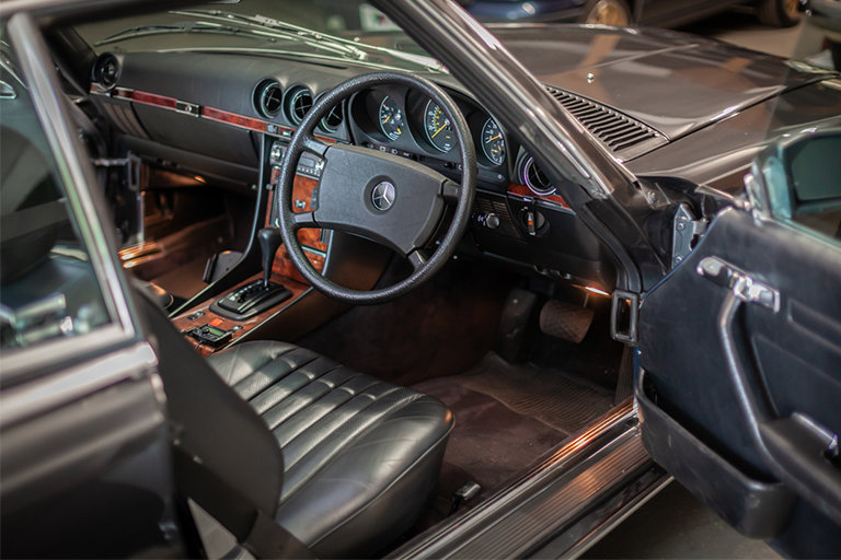 1985 Mercedes-Benz 380SL Black with Black Leather and Rear Seats SOLD (picture 3 of 11)