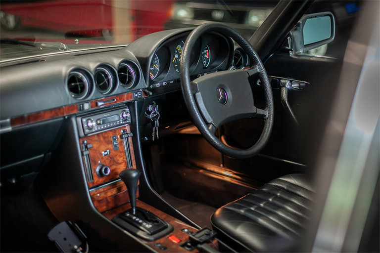 1985 Mercedes-Benz 380SL Black with Black Leather and Rear Seats SOLD (picture 5 of 11)