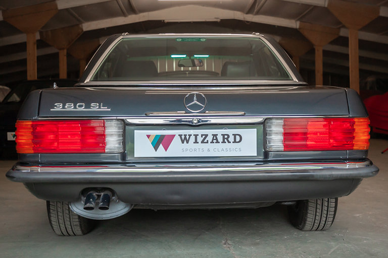1985 Mercedes-Benz 380SL Black with Black Leather and Rear Seats SOLD (picture 7 of 11)