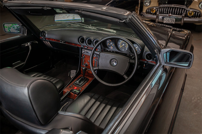 1985 Mercedes-Benz 380SL Black with Black Leather and Rear Seats SOLD (picture 11 of 11)