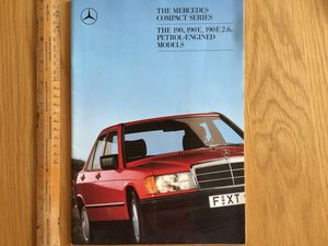 1986 Mercedes 190 brochure For Sale