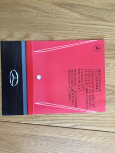 1988 Mercedes gelandwagen colour chart For Sale