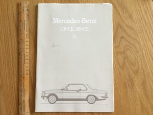 1980 Mercedes 230 and 280 ce brochure  For Sale