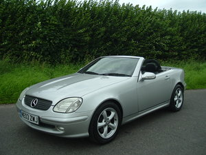 2003 03/03 Mercedes SLK 230. Low Miles/2 Owners/FSH. Silver/Black For Sale