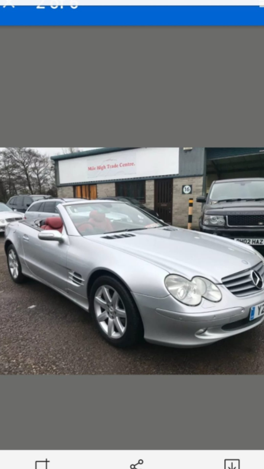 2005 MINT CONDITION MERCEDES SL   For Sale (picture 4 of 4)