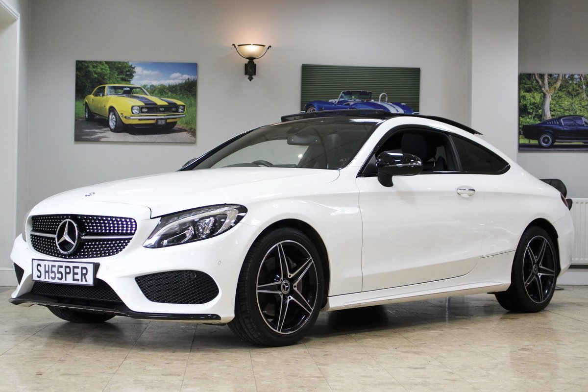 2017 Mercedes-Benz C Class Coupe C220 AMG Line 9G-Tronic For Sale (picture 1 of 10)