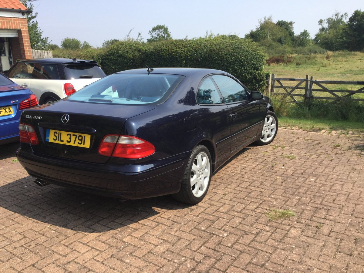 2000 Excellent Mercedes 430clk coupe For Sale (picture 1 of 6)