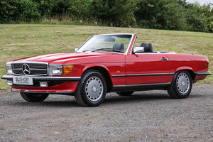 1987 Mercedes-Benz 420SL (R107) Red with Black #2212 For Sale