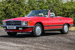 1987 Mercedes-Benz 420SL (R107) Red with Beige #2204 For Sale