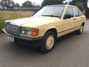 1984 Mercedes 190E 2.0 Very early manual car