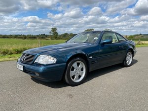 2000 Mercedes SL500 in Tourmaline Green with only 27927 mile