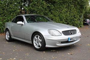 2003 Mercedes 200SLK Kompressor to be sold 30-10-20