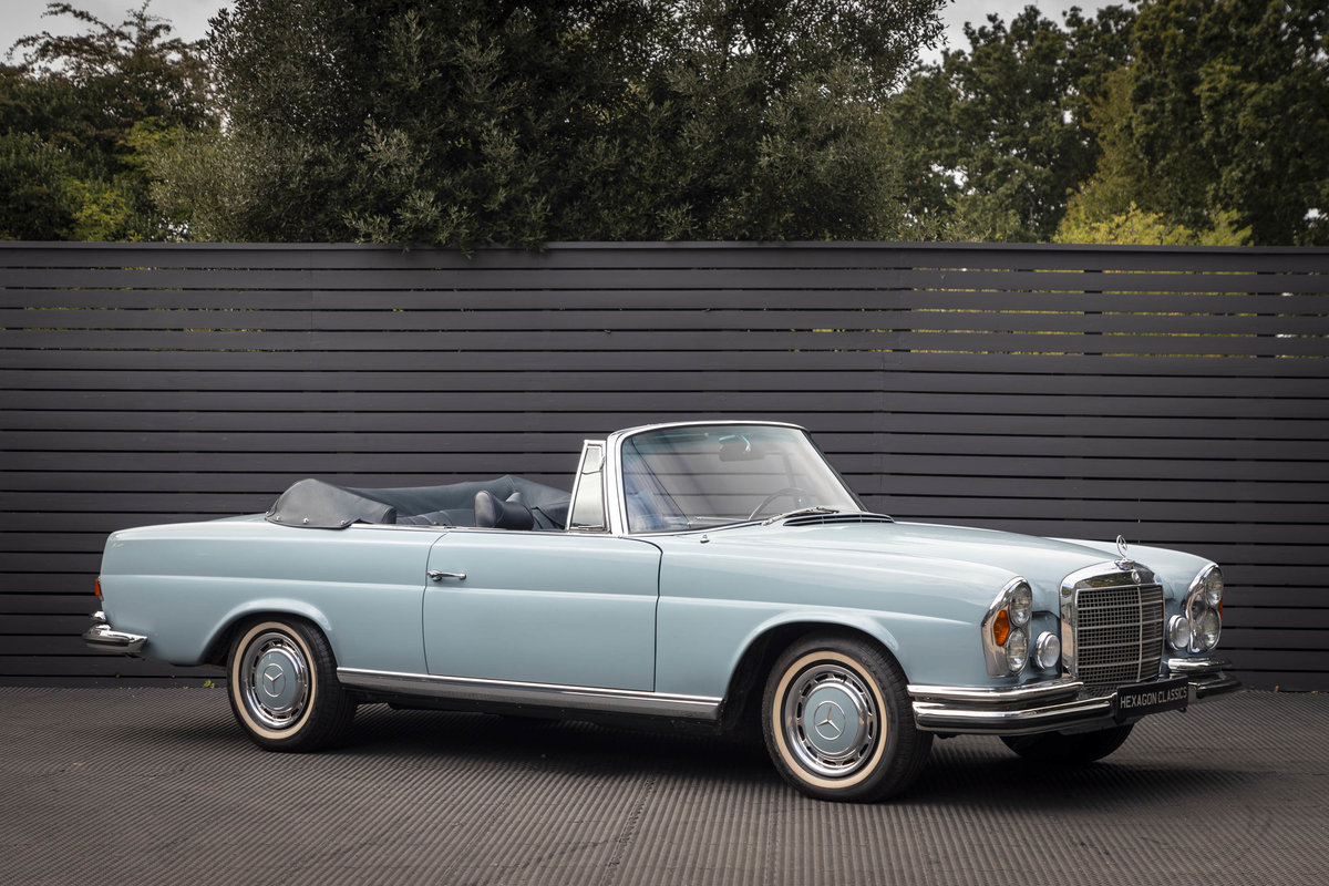 1970 MERCEDES-BENZ 280SE CABRIOLET AUTO LHD (FLOORSHIFT) For Sale (picture 1 of 6)