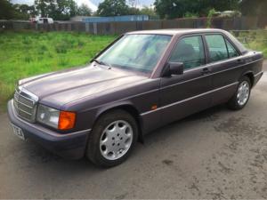 1993 Mercedes 190E Low mileage Barn Stored