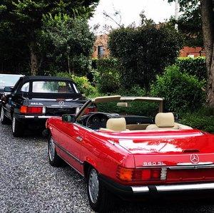 Mercedes sl 560 cabrio last model 107 ! 1989 Bobby EwingLook