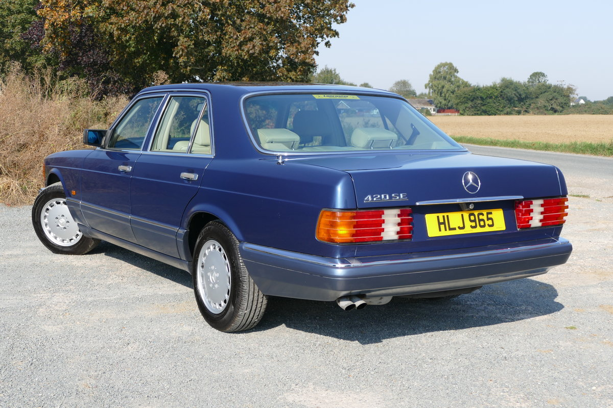 1990 Mercedes-Benz 420 SE W126 with just 85,926 miles. For Sale (picture 3 of 6)