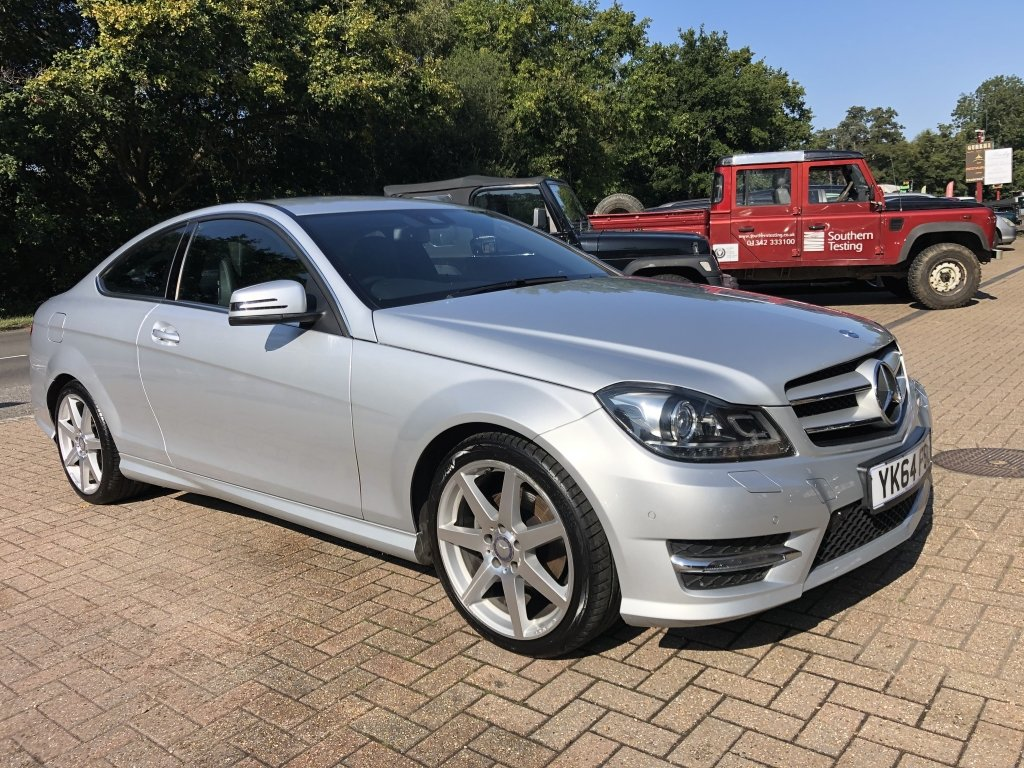 2014 (64) Mercedes Benz C180 (1.6) AMG Sport Premium Coupe For Sale (picture 1 of 6)