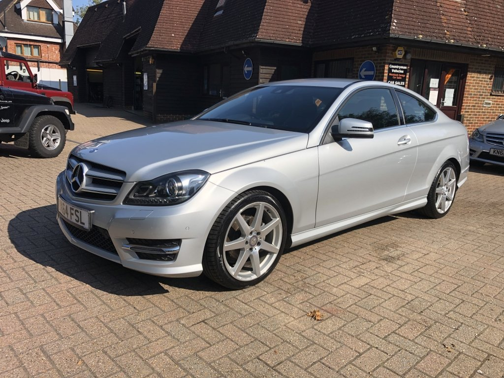 2014 (64) Mercedes Benz C180 (1.6) AMG Sport Premium Coupe For Sale (picture 2 of 6)
