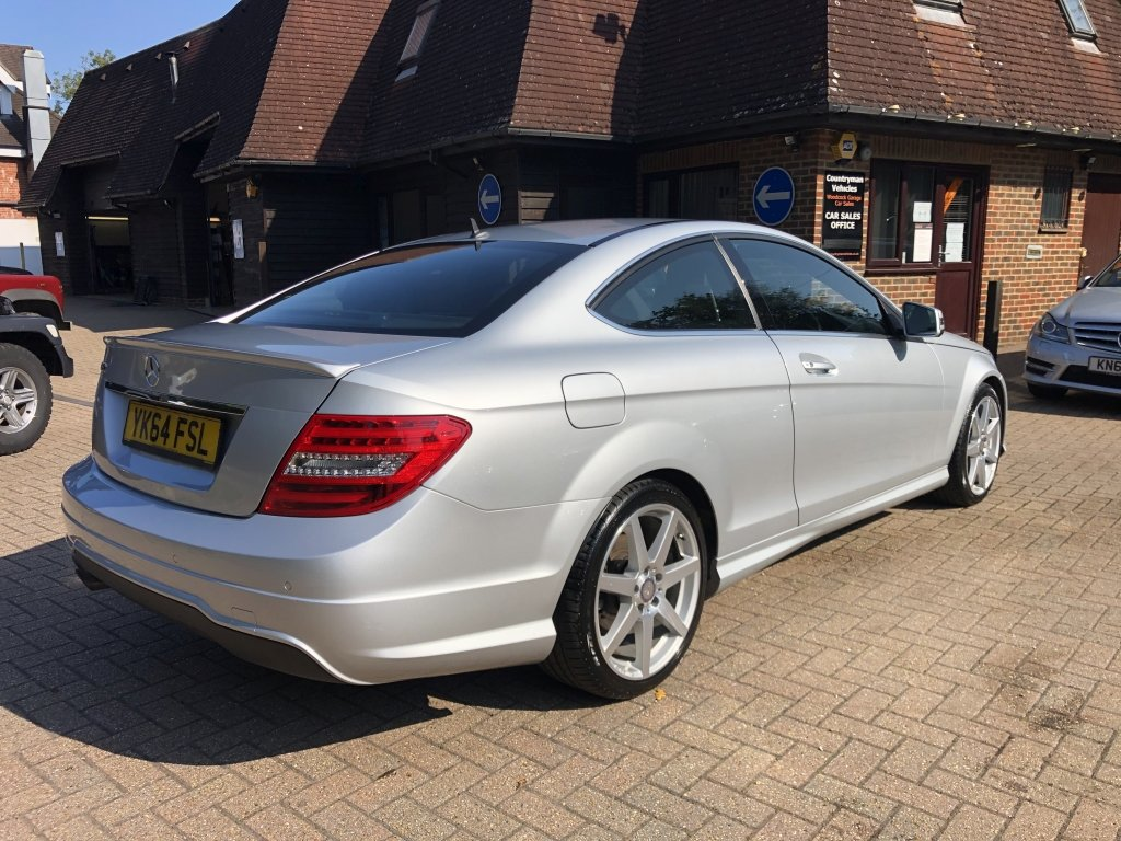 2014 (64) Mercedes Benz C180 (1.6) AMG Sport Premium Coupe For Sale (picture 3 of 6)