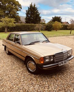 1983 Mercedes 230E. 123 series 1 owner from new