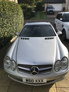 Picture of 2003 Silver Mercedes 350SL Tip Glass Roof Convertible