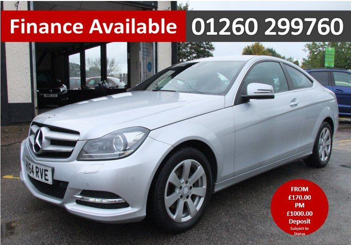 2014 MERCEDES-BENZ C CLASS 2.1 C220 CDI EXECUTIVE SE 2DR For Sale (picture 1 of 6)